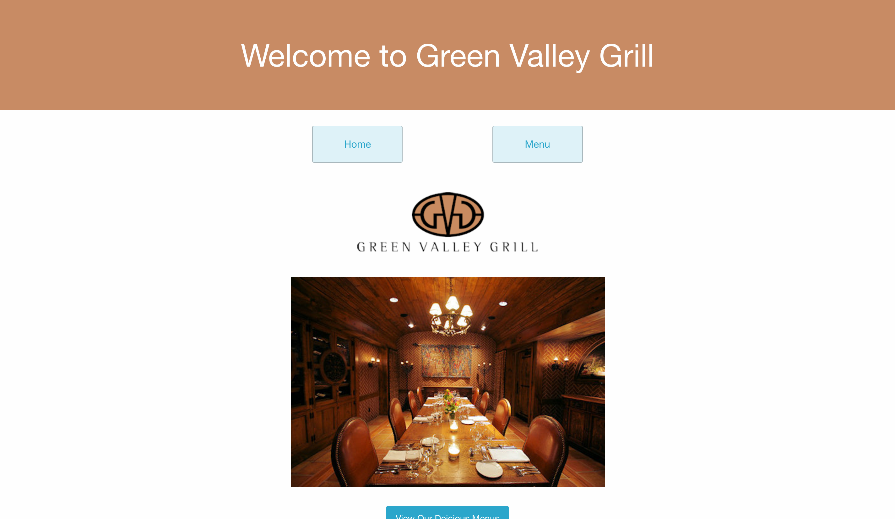 Green Valley Grill Redesign